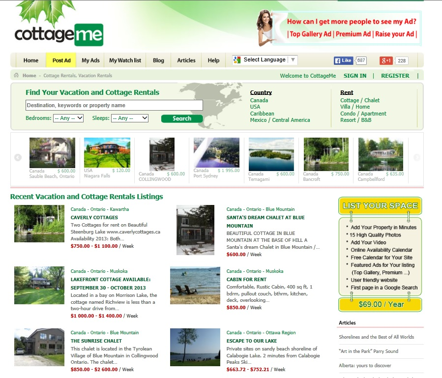 SEORepublic Web Design and SEO Toronto Portfolio CottageMe