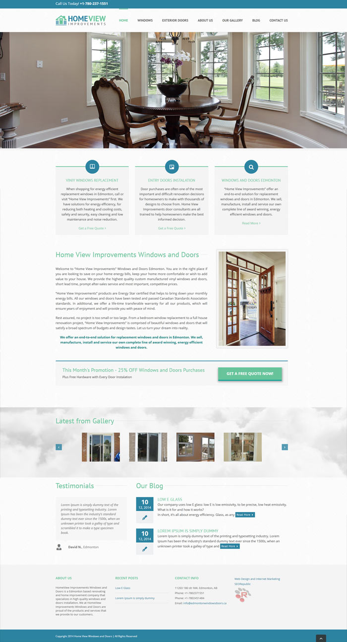 SEORepublic Web Design and SEO Toronto Portfolio EdmontonWindowsDoors
