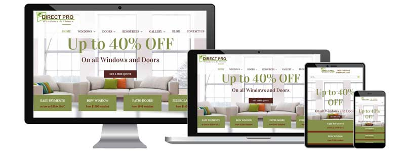 Direct Pro Windows and Doors Webdesign Toronto