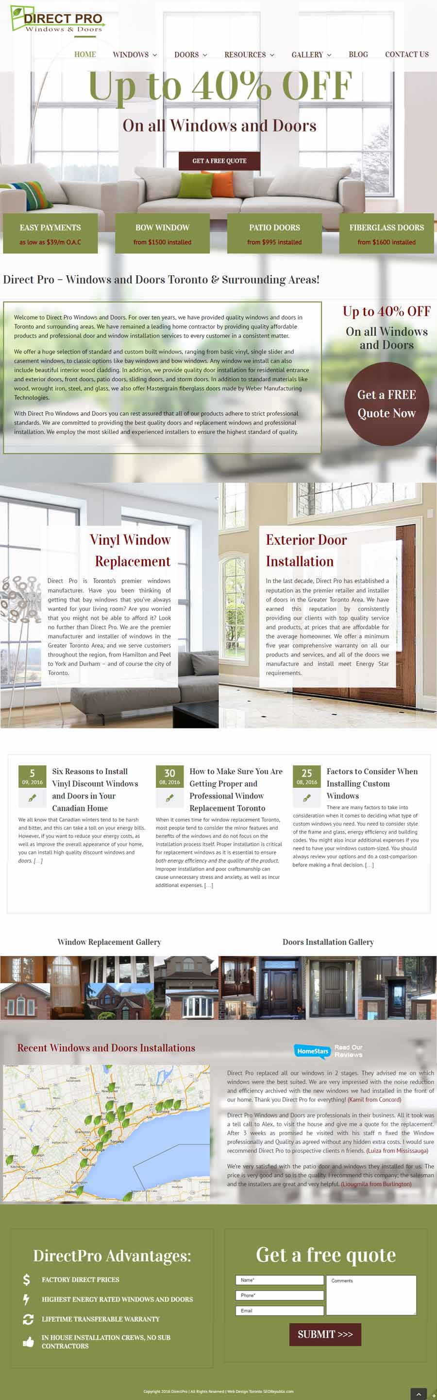 Web-design Toronto Seorepublic Direct Pro Windows and Doors
