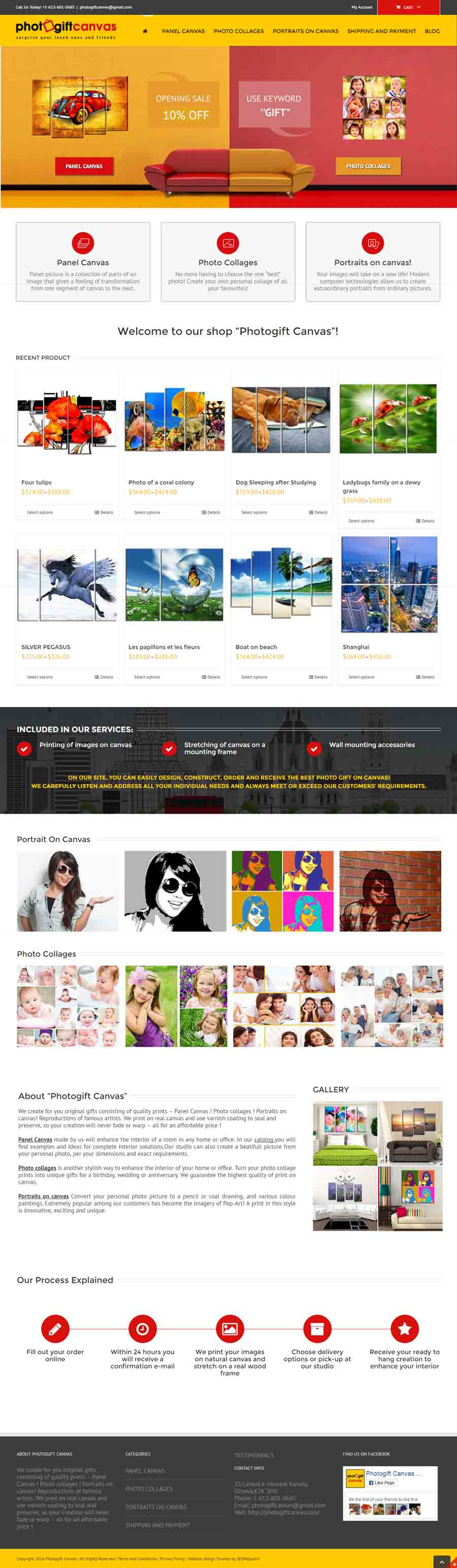 Web-design Toronto Seorepublic Photogift Canvas